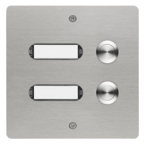 Klingeltableau dreifach, rechteckig, Edelstahl, Unterputz