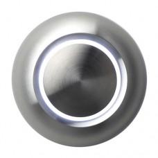 Beleuchtete Design-Türklingel, rund, Aluminiumfront, Aufputz