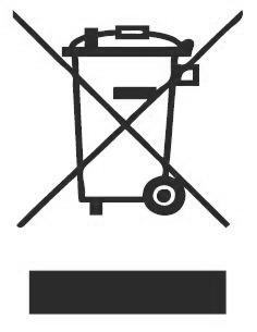 Symbol Elektrogeräteentsorgung